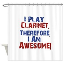 Clarinet copy Shower Curtain