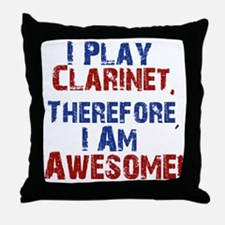 Clarinet copy Throw Pillow