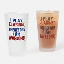 Clarinet copy Drinking Glass