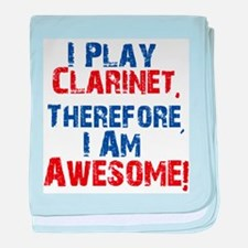 Clarinet copy baby blanket