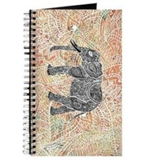 Tribal Paisley Elephant Colorful Henna Pat Journal