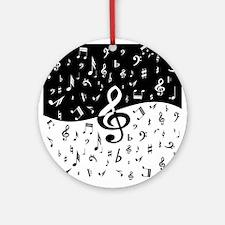 Stylish random musical notes Ornament (Round)