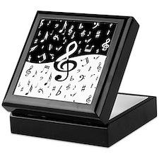 Stylish random musical notes Keepsake Box