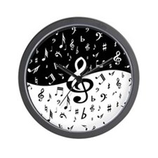 Stylish random musical notes Wall Clock