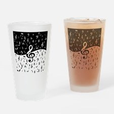Stylish random musical notes Drinking Glass
