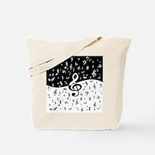 Stylish random musical notes Tote Bag