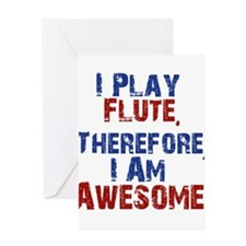 I Play flute Greeting Cards