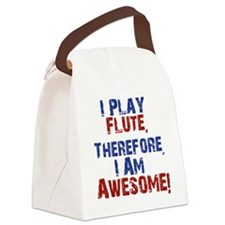I Play flute Canvas Lunch Bag