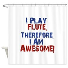 I Play flute Shower Curtain