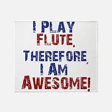 I Play flute Throw Blanket