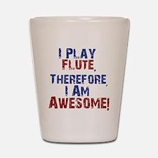 I Play flute Shot Glass