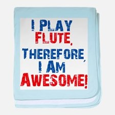 I Play flute baby blanket