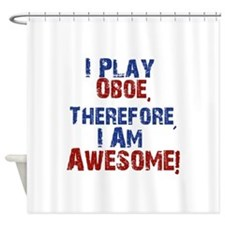 I Play Oboe Shower Curtain