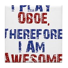 I Play Oboe Tile Coaster