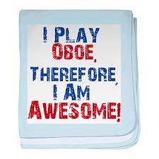 I Play Oboe baby blanket
