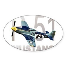 P-51 MUSTANG Rectangle Decal