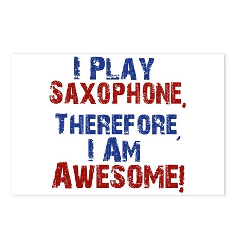 I Play Saxophone Postcards (Package of 8)