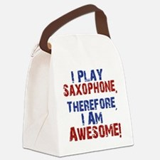 I Play Saxophone Canvas Lunch Bag
