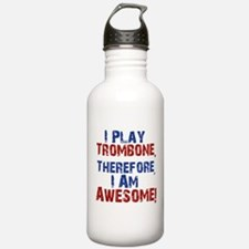 I Play Trombone Water Bottle