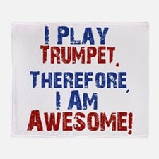 I Play Trumpet Throw Blanket