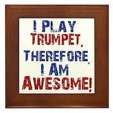 I Play Trumpet Framed Tile