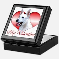 White Shep Valentine Keepsake Box