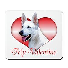White Shep Valentine Mousepad