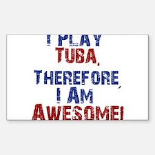 I Play Tuba Decal