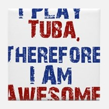 I Play Tuba Tile Coaster