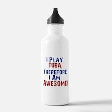 I Play Tuba Water Bottle