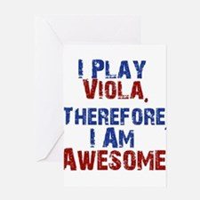 I Play Viola Greeting Cards