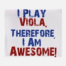 I Play Viola Throw Blanket