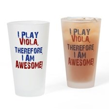 I Play Viola Drinking Glass