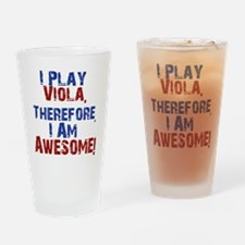 I Play Viola Drinking Glass