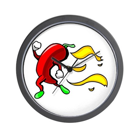 Running Hot Chili Pepper Wall Clock By Savemenow2