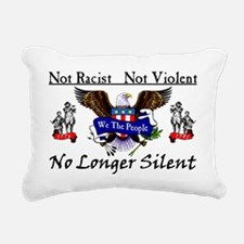 NOTSILENTFINALZAZZLE6 Rectangular Canvas Pillow