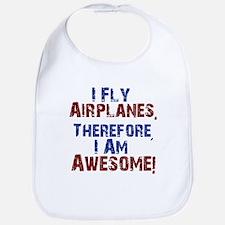I fly airplanes Bib