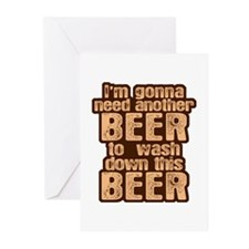 Funny Beer Drinking Humor Greeting Cards (Pk of 10