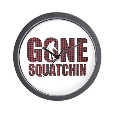 Gone Squatchin rp2 Wall Clock