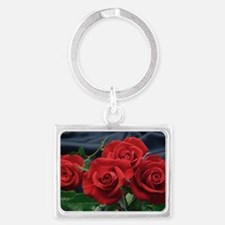 Red roses Landscape Keychain