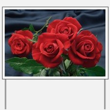 Red roses Yard Sign