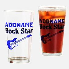 LOVE ROCK N ROLL Drinking Glass