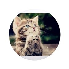 "Praying Kitty 3.5"" Button (100 pack)"