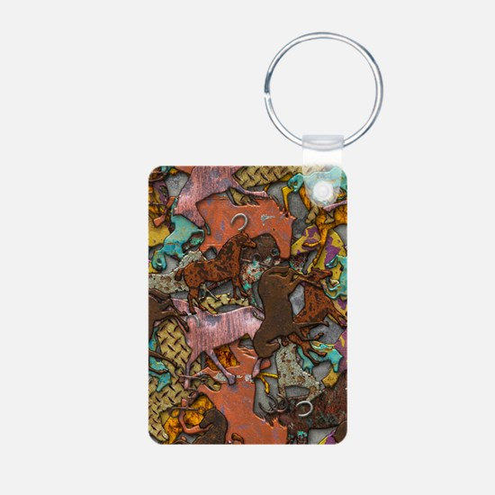 Colorful Horses Keychains