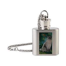 CatBluePointSiamese Flask Necklace