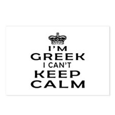 I Am Greek I Can Not Keep Calm Postcards (Package