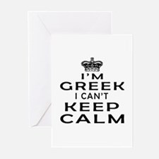 I Am Greek I Can Not Keep Calm Greeting Cards (Pk
