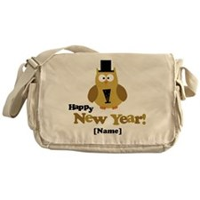 Personalized New Years Owl Messenger Bag