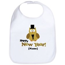 Personalized New Years Owl Bib