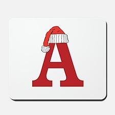 Christmas Monogram Letter A Mousepad